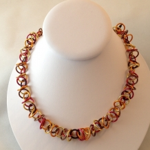 Overtone necklace in Autumn colors